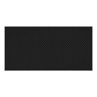 Black Micro Pinhole Kevlar Carbon Fiber Photo Greeting Card