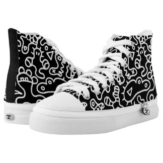 Black Microbes High Tops