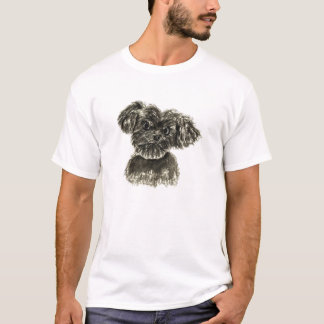 Black Miniature Schnauzer Puppy Watercolour Design T-Shirt