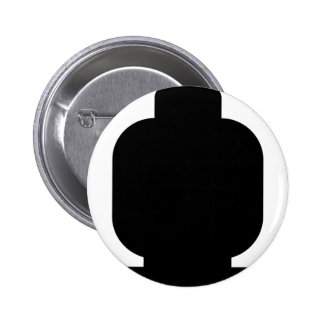 Black Minifig Head by Customize My Minifig Pinback Button