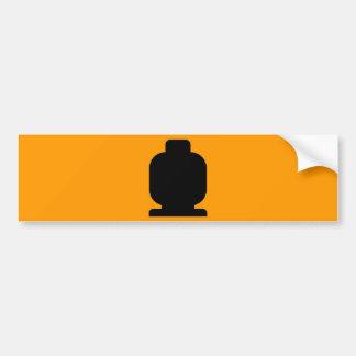Black Minifig Head by Customize My Minifig Bumper Sticker