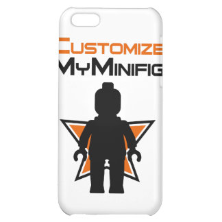 Black Minifig in front Customize My Minifig Logo Case For iPhone 5C