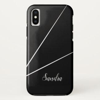 Black Minimalist line design | Phone Case
