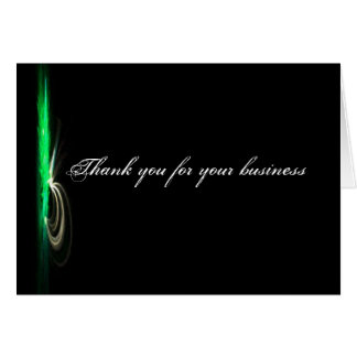 Black Modern Business Thank You Note Card
