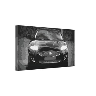 Black Modern Car in a Black and White Canvas