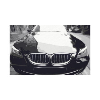 Black Modern Car with a Black and White Canvas