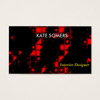 Black Modern Contrasting Business Card