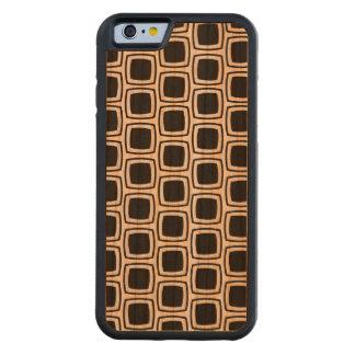Black Modern Geometric Pattern Carved® Cherry iPhone 6 Bumper