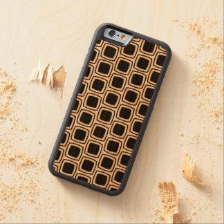 Black Modern Geometric Pattern Wood iPhone Cherry iPhone 6 Bumper Case
