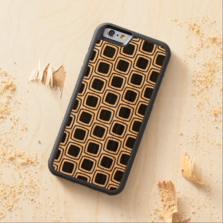 Black Modern Geometric Pattern Wood iPhone Carved® Cherry iPhone 6 Bumper