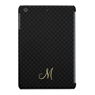 Black Modern Monogram Pattern iPad Slim Hard Case iPad Mini Retina Case