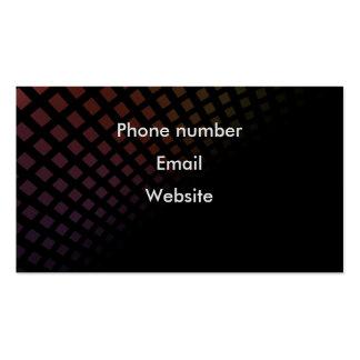 Black modern professional business card