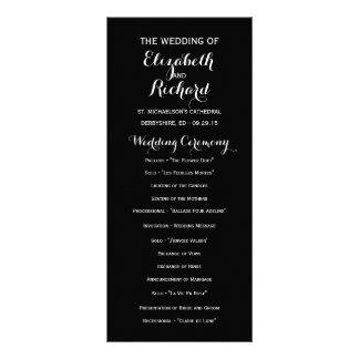 Black Modern Simple Wedding Programs Rack Card