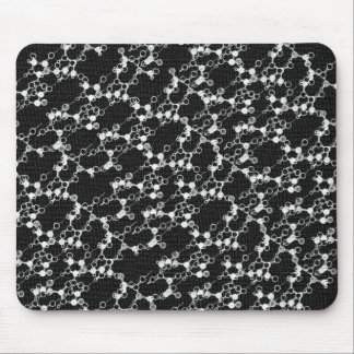 Black Molecule Mousepad