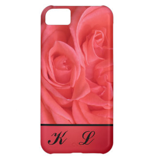 Black Monogram on pink iPhone 5C Cover