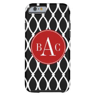 Black Monogrammed Barcelona Tough iPhone 6 Case