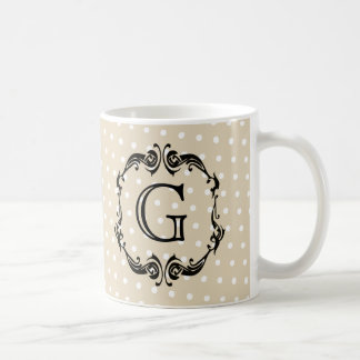 Black Monogrammed design,  personilization option Coffee Mug