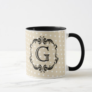 Black Monogrammed design, personilization option Mug