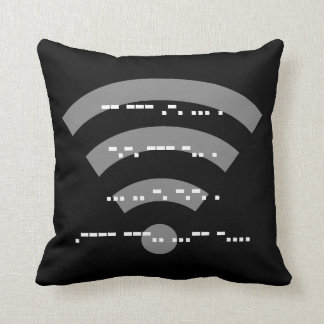 Black Morse code design cushion 41cmx41cm