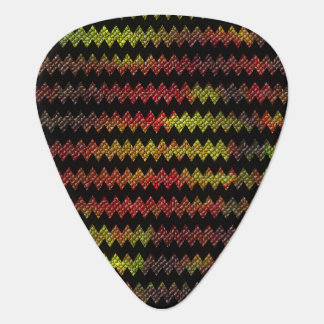 Black Mosaic Chevron Guitar Pick