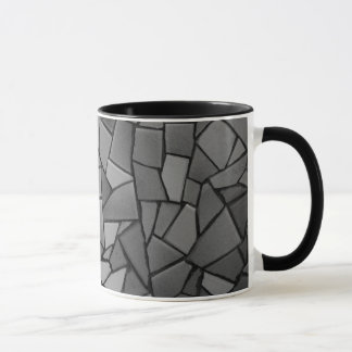 Black mosaic mug