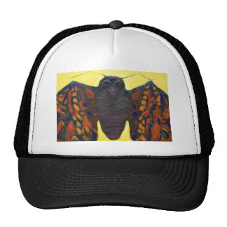 Black Moth (surreal insect painting) Cap