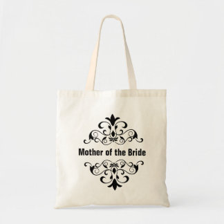 Black Mother of the Bride Wedding Tote Bag