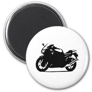 black motorcycle bike icon 6 cm round magnet
