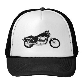 Black Motorcycle Cap