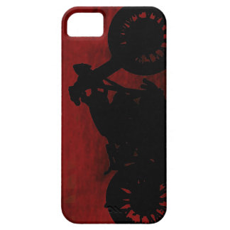 black motorcycle silhouette iPhone 5 case
