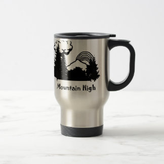 Black Mountain High Logo Silver Travel Mug