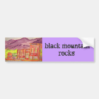 black mountain rocks bumper sticker