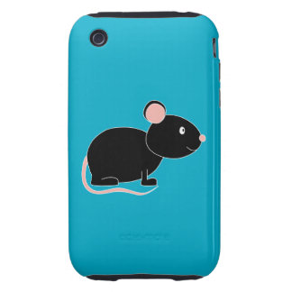 Black Mouse. Tough iPhone 3 Covers