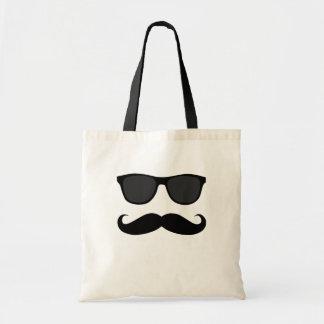 Black Moustache and Sunglasses Humour Gift Canvas Bag