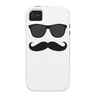 Black Moustache and Sunglasses iPhone 4 Cover