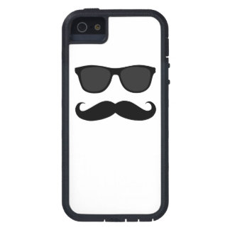 Black Moustache and Sunglasses iPhone 5 Case