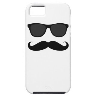 Black Moustache and Sunglasses iPhone 5 Cases