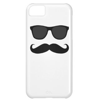Black Moustache and Sunglasses iPhone 5C Case