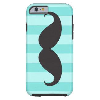Black moustache aqua stripes iPhone 6 case Tough iPhone 6 Case