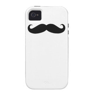 Black Moustache iPhone 4 Case-Mate Case