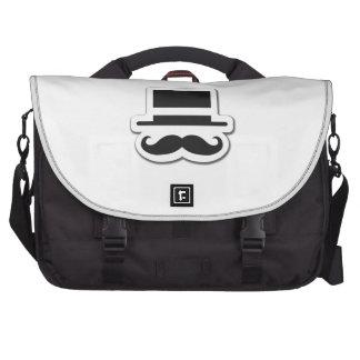 Black Moustache with Cylinder Hat Laptop Commuter Bag