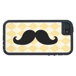 Black Moustache Yellow Diamond Pattern iPhone 5 Case