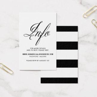 Black Mr. & Mrs. Elegant Script Wedding Website I Business Card