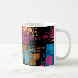 Black Mug with geometrical shapes