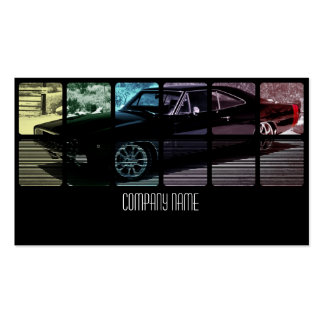 Black Muscle Car in Different Colors Business Card