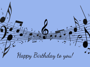 Happy Birthday Notes Violin Music Cards Zazzleau View Large
