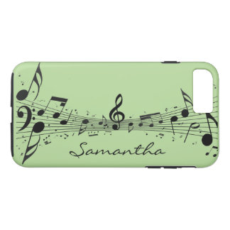 Black Musical Notes Design Smartphone Case