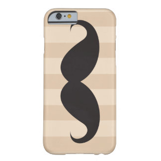 Black mustache and brown stripes iPhone 6 case Barely There iPhone 6 Case