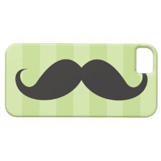 Black mustache and green stripes iPhone 5 case