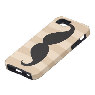 Black mustache and stripes iPhone 5 case